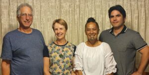 Our trustees - from the left -Dave, Kate Pekaira and Seumas